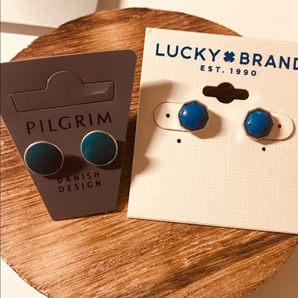 Lucky Brand Jewelry - Stunning Pilgrim and Lucky brand earrings lot